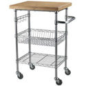 Click here for more Bamboo Top Wire Cart by Sandusky Lee by Worthington