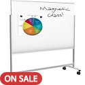 Click here for more Visionary Move Mobile Magnetic Glass Whiteboard by Best-Rite by Worthington
