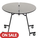 Click here for more Standing Height Round Mobile School Cafeteria Tables by Amtab by Worthington