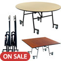 Click here for more EZ-Tilt  Mobile Cafeteria Tables by Amtab by Worthington