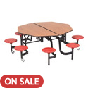 Mobile Stool Table w/ Octagonal Top by Amtab