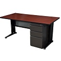 Click here for more Fusion Single Pedestal Desk by Regency by Worthington