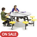 Click here for more Mobile Stool Table w/ Round Top by Amtab by Worthington