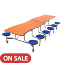 Click here for more Wave Top Mobile Stool Cafeteria Table by Amtab by Worthington