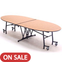 Click here for more Mobile Empire Oval School Cafeteria Tables by Amtab by Worthington