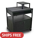 Click here for more Spartan Series Media Projector Carts w/ Bin, Cabinet & Expansion Shelf by Marvel by Worthington