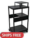 Click here for more Spartan Series Media Projector Carts w/ Expansion Shelf by Marvel by Worthington