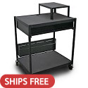 Click here for more Spartan Series Media Projector Carts w/ Bin & Expansion Shelf by Marvel by Worthington