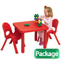 Click here for more MyValue Set 2 Preschool Table & Chair Set by Angeles by Worthington