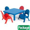 MyValue Set 4 Preschool and Toddler Table & Chair Set by Angeles