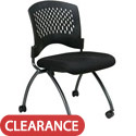 Click here for more Ventilated Back Armless Nesting Chair by Office Star by Worthington