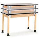 Adjustable Height Science Table by National Public Seating