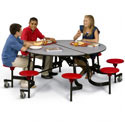 Click here for more Round Stool Cafeteria Tables by American Desk by Worthington