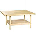 Wooden Four Station Student Workbench Table by Diversified Woodcrafts