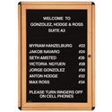 Click here for more Ovation Wood Look Enclosed Letter Boards by Ghent by Worthington