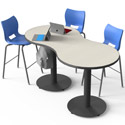 Peanut Cafe Meeting Tables by Smith System
