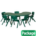 Click here for more Package - Plastic Resin Kidney Activity Table & Chair Sets by ECR4Kids by Worthington