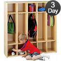 Click here for more Eco Five-Section Preschool Locker Unit by Tot-Mate by Worthington