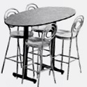 Click here for more Ellipse Cafe Tables by Amtab by Worthington