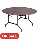 Round Particle Board Folding Tables by Amtab