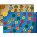 Click here for more Radiating Alphabet Seating Circles Rug by Carpets for Kids by Worthington