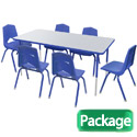 Click here for more Youth Rectangle Activity Table & 6 Chair Package Set by Marco Group by Worthington