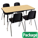 "Click here for more Rectangle Activity Table & Chair Packages - 24"" Deep by ECR4Kids by Worthington"