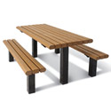 Click here for more Recycled Multi-Pedestal Picnic Table by UltraPlay by Worthington