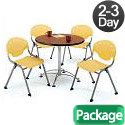 Click here for more Breakroom Table & Four Rico Chairs by OFM by Worthington