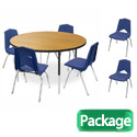 Round Activity Table & 6 Chair Package Set by Marco Group
