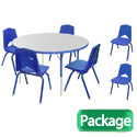 Click here for more Preschool Round Activity Table & 6 Chair Package Set by Marco Group by Worthington