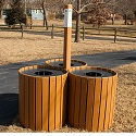 Click here for more Resinwood Round Recycling Centers by Jayhawk Plastics by Worthington