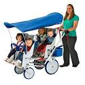 Click here for more Runabout Commercial Stroller 4 & 6 Seat by Angeles by Worthington