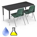 Click here for more Adjustable Height Laminate Science Lab Tables by Smith System by Worthington