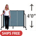 4' H Freestanding Portable Partition by Screenflex