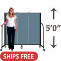 5' H Freestanding Portable Partition by Screenflex