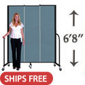 "6' 8"" H Freestanding Portable Partition by Screenflex"