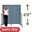 6' H Freestanding Portable Partition by Screenflex