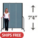 "7' 4"" H Portable Freestanding Partition by Screenflex"