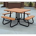 Click here for more Square Outdoor Picnic Tables by Jayhawk Plastics by Worthington