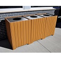 Resinwood Square Recycling Centers by Jayhawk Plastics