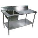 Stainless Steel Prep Sinks by Shain