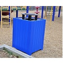 Resinwood Square Receptacles by Jayhawk Plastics