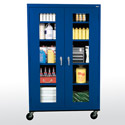 Click here for more Clear View Series Full-size Mobile Cabinet by Sandusky Lee by Worthington