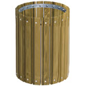 Pressure Treated Round Outdoor Trash Receptacles by UltraPlay