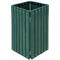 Click here for more Recycled Plastic Square Outdoor Trash Receptacle by UltraPlay by Worthington
