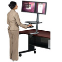 Up-Rite Front Mounted Sit and Stand Workstation by Balt