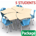 Click here for more Vertebrae Student Desk & 2Thrive Chair Packages by Scholar Craft by Worthington