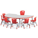 Click here for more 4000 Series Classroom Color Banded Activity Tables with Gray Nebula Top by Virco by Worthington