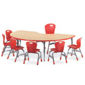 Click here for more 4000 Series Classroom Color Banded Activity Tables with Fusion Maple Top by Virco by Worthington